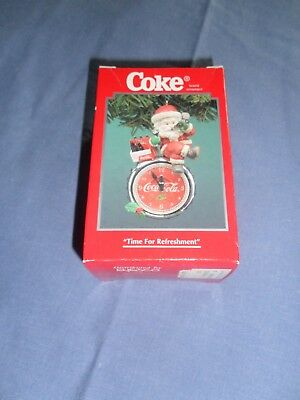 "NIB 1995 Enesco Coca-Cola Ornament ""Time for Refreshment""  #111872"