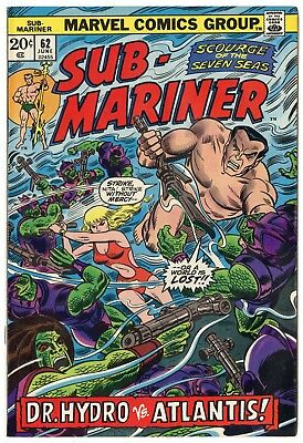 Sub-Mariner #62 NM- 9.2 ow/white pages  Marvel  1973  No Reserve