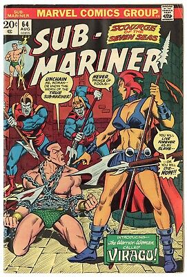 Sub-Mariner #64 VF 8.0 ow/white pages  Marvel  1973  No Reserve