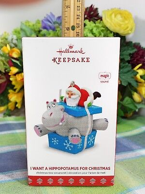 I Want Hippopotamus For Christmas.Decorative Collectible Brands Hallmark 2017 I Want A