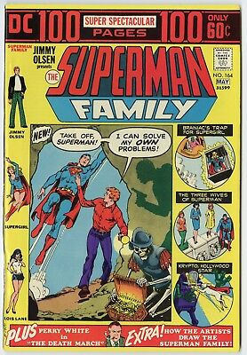 Superman Family #164 (#1) NM- 9.2 white pages  100 Page Giant  DC  1974