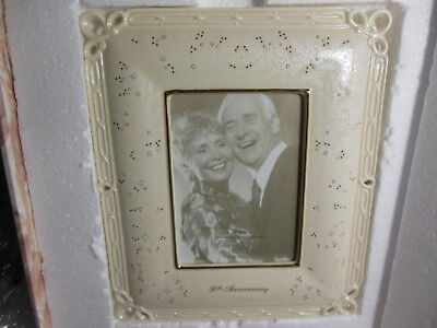Lenox Fine China 50th Anniversary 5 x 7 Picture Frame Wedding Promises w/ Box