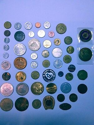 Commerative Tokens Misc Foreign Coins Nice Lot Circulated