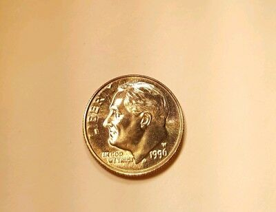 1996 W Roosevelt Dime West Point Gem BU Uncirculated No toning