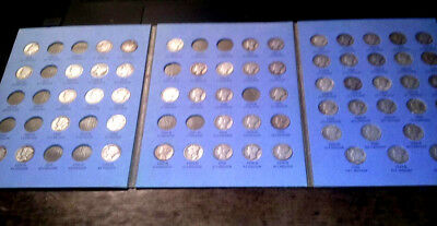 Mercury Dime Book 1916-1945, 61 different coins- 90% silver