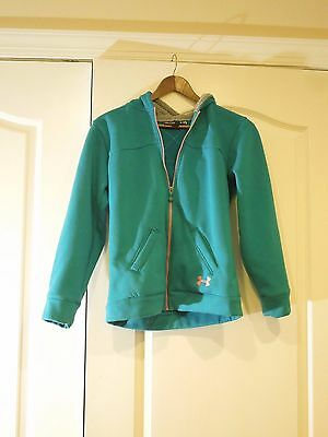 Under Armour Sweatshirt Hoodie Loose Fit Girls' Youth XL Turquoise and Pink