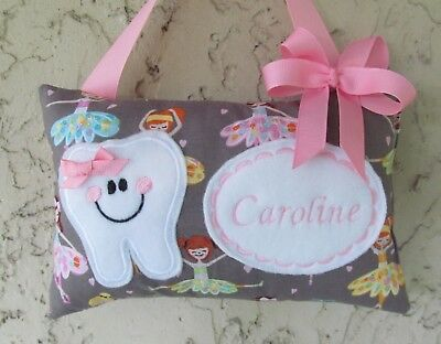 Tooth Fairy Pillow Personalized Ballerina