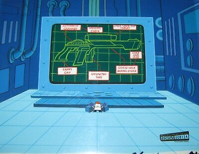 Original production cel & background  - Dexter's Lab