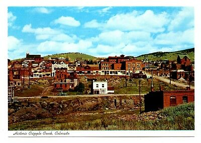 Historic Cripple Creek Colorado Postcard Mining Town Gold Discovery Imperial