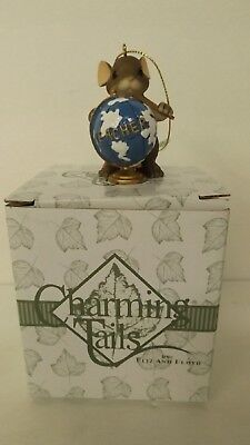 Charming Tails A World Of Learning Ornament 86/114 w COA Mint Teacher Ornament