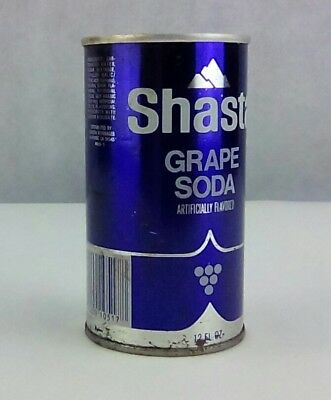 Shasta Grape Soda 12 oz unopened top, steel can