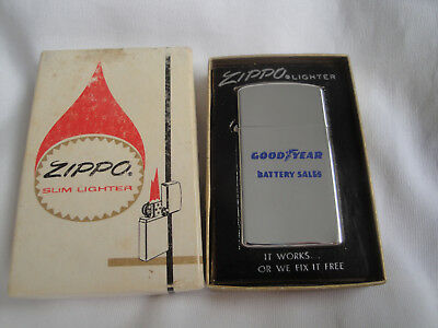 Vintage Zippo GOODYEAR Battery Sales 1971 Lighter New old stock Unused in Box