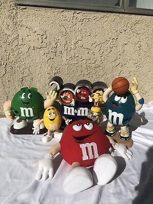 Lot Of Collectible M & M Characters & Candy Dispenser
