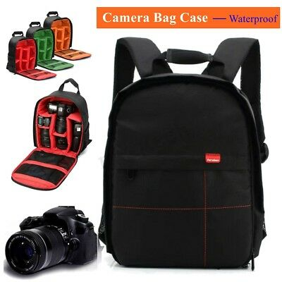 DSLR Camera Video Waterproof Backpack Shoulder Bag Case For Canon Nikon