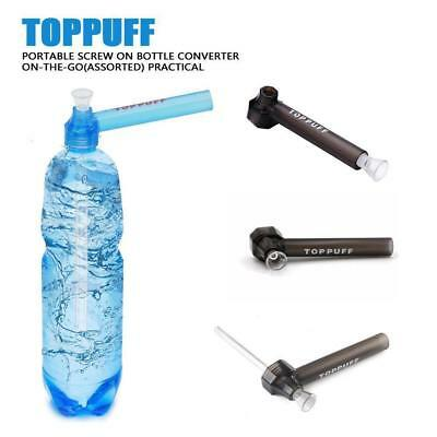 Hookah Screw on Bottle Converter Water Bong On-the-Go Pipes Smoking Herb Black