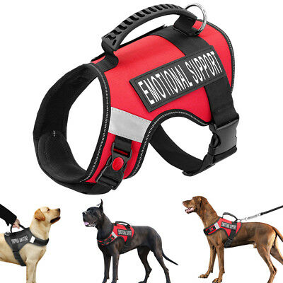 Emotional Support Dog Vest Harness Removable Patches for Large Xlarge Dogs K-9