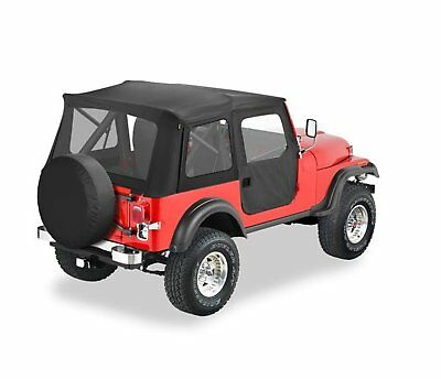 Bestop 51595-01 Black Crush Supertop Classic Replacement Soft Top with Clear ...