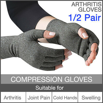 Arthritis Compression Gloves Joint Finger Pain Relief Hand Wrist Support Brace .