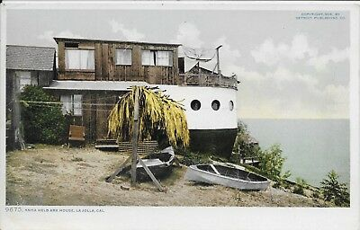 Anna Held Ark House La Jolla CA vintage postcard unused 9675 Detroit Pub