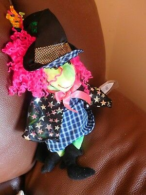 """RETIRED - MINT Condition  - Ty Beanie Baby - """"SCARY"""" Witch 2000"""