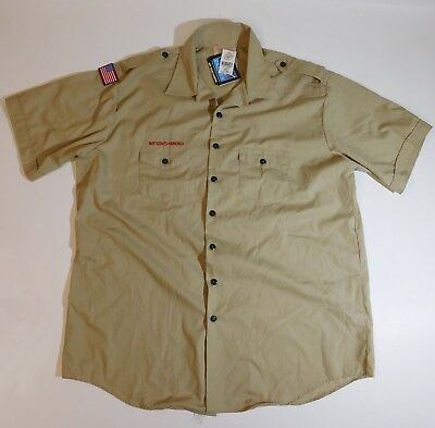 NEW Boy Scouts BSA Adult Mens 3XL Khaki Uniform Shirt (19- 19 1/2)  XXXL