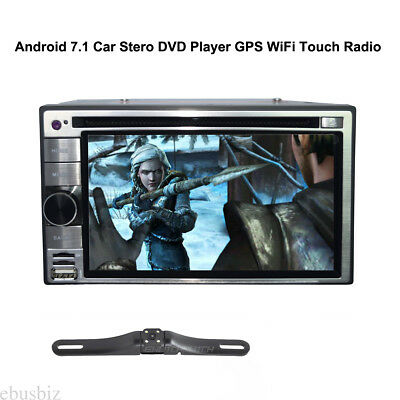 Android 7.1 Car DVD CD Stereo Player GPS Navi WiFi Touch Screen +Rearview Camera