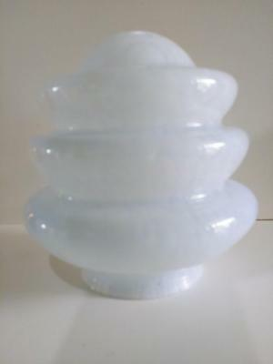 Vintage Mottled Cloudy Light Blue Beehive Glass Light Shade 15cm smaller size