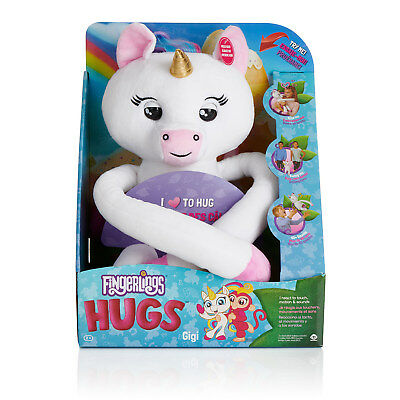 Wowwee Fingerlings Hugs Gigi Plush White Unicorn Interactive 40+Sounds 2018 Hot