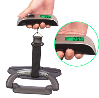 Portable Travel Scale 50kg/10g/110lb Digital Hanging LCD Luggage Weight
