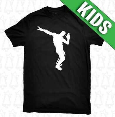 d3670456 FORTNITE CELEBRATIONS DANCE KIDS T-SHIRT floss dab childrens child tee Lot.
