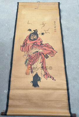 Collect decoration Chinese hand painted painting Paper Zhong Kui mural LJ690
