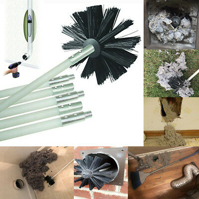 Dryer Duct Cleaning Kit Lint Remover Extends Up To 12 Feet Synthetic Brush Head