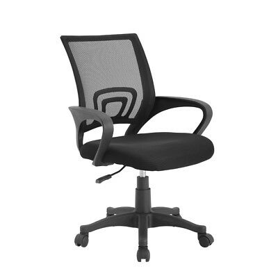 Fabric Task Office Chair Computer Desk Swivel Executive Adjustable Black