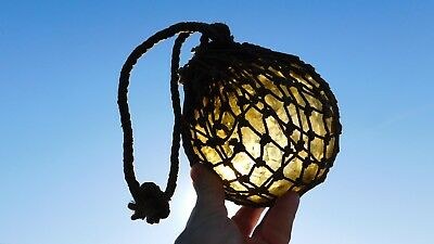 Vintage Northwest Glass Company Netted Glass Float Light Yellow Amber