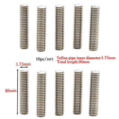 10pc 1.75mm/26mm Stainless Steel Nozzle Throat Tube for 3D Printer Extruder #ur