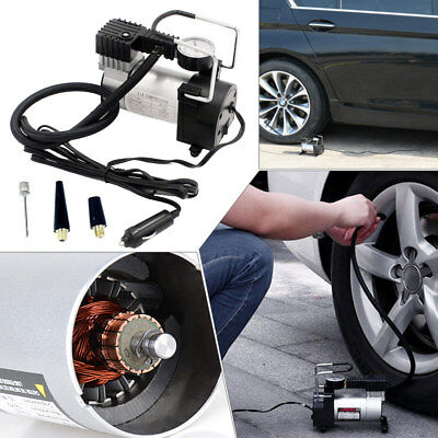 Heavy Duty Portable 12V 1 Car Auto Tire Inflator Pump Air Compressor RV 120W Kit