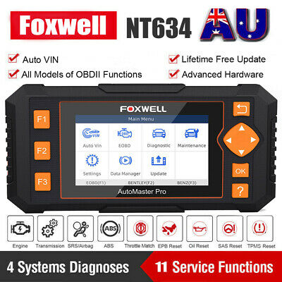 FOXWELL NT510 ABS SRS Oil Service Reset Code Reader