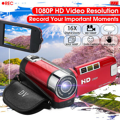 FULL HD 1080P 16MP 2.7'' LCD 16X ZOOM Digital Video DV Camera Camcorder Rotating