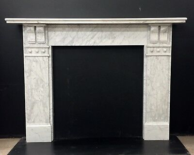 Victorian / Edwardian Marble Fireplace Surround with Double Corbel