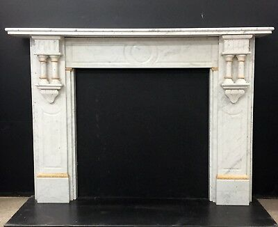 Victorian / Edwardian Marble Fireplace Surround with Siena Marble Detail