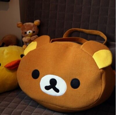San-X Rilakkuma Bear Handbag Shoulder Bag Plush Relax Brown Bear cute Bag