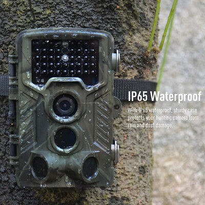 16MP 1080P HD Video Trail Hunting Camera 120° Wide Angle 42 LEDs IR Game Camera