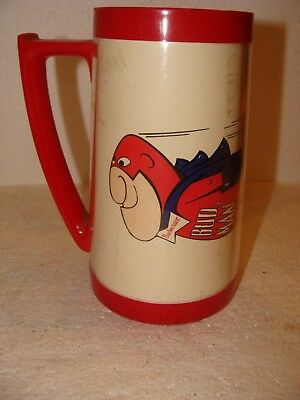 """Collectable """"bud Man Beer Mug"""" Thermo Serv / Made By West Bend / Made In The Usa"""