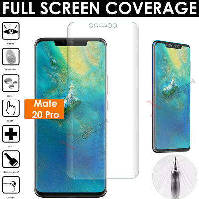 1x FULL SCREEN Curved Fit TPU Screen Protector Cover For Huawei Mate 20 Pro