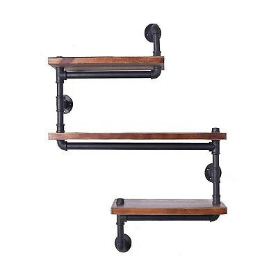 Industrial Pipe Shelving Metal System Rustic Modern Steampunk Heavy Duty Iron