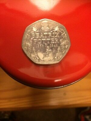2016 Beatrix Potter 150th Anniversary 50p Fifty Pence coin (Circulated)
