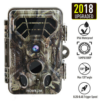 "16MP 1080P HD Video 2.4"" LCD Trail Hunting Camera 120° Wide Angle Game Camera"