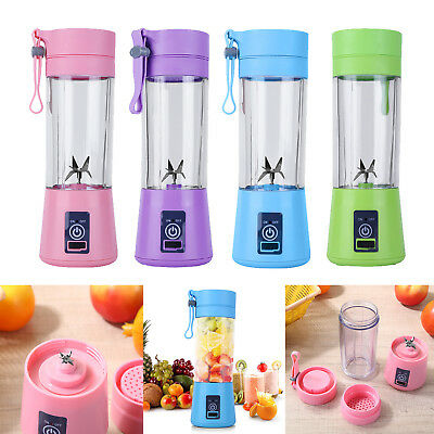 Portable Blender Rechargeable USB Juicer Cup Fruit Mixer Smoothie Machine 380ML