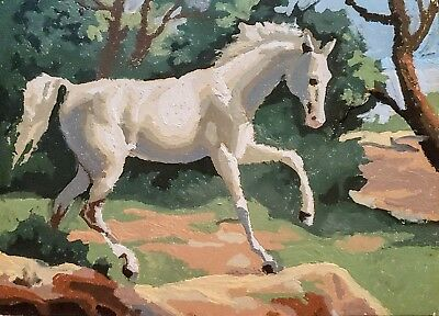 Vintage Horse Painting- Old Color By Number
