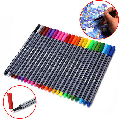 24PCS Fineliner Different Color Fineliners Set Art Painting Markers Pen 0.4mm